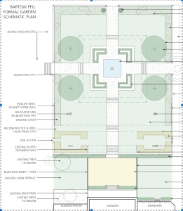 Restoration plan for BPMM Formal Garden