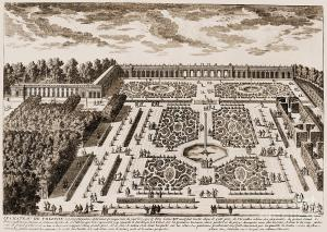 Versailles garden plan, Granger 1685 (fineartamerica.com)