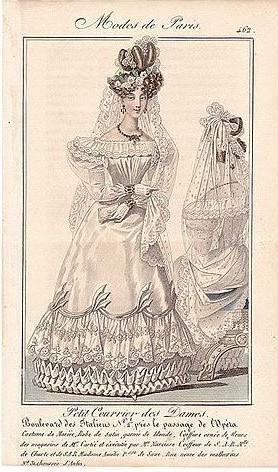 1827 wedding dress Le Petit Courrier des Dames