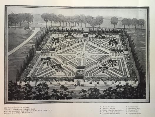 Delano Bartow rose garden design 1917