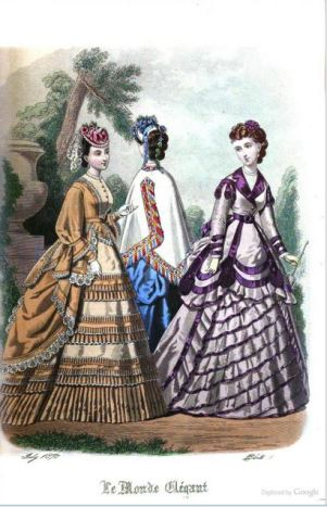 July 1870 fashion plate from The World of Fashion and  Continental Feuilletons