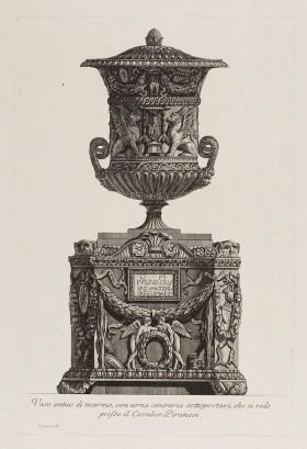 A_marble_vase_placed_on_an_urn._Etching_by_G.B._Piranesi_Wellcome_L0074176