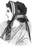 Half-mourning bonnet Godey's illustration, August 1866