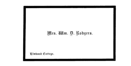 mourning card with black border 1870