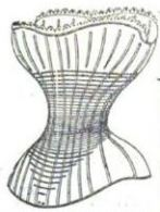 Corset detail The London and Paris Ladies' Magazine of Fashion ed by mrs. Edward Thomas, January 1853