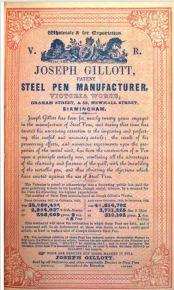 Gillott ad 1840
