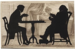 Augustin Edouart. Chess Players, plate 9 from his 1835 treatise