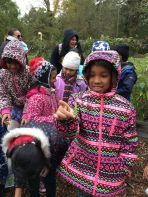 New York City schoolchildren learn about plants at Bartow-Pell.