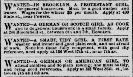 Help Wanted ad 1.23.1862 NY Herald