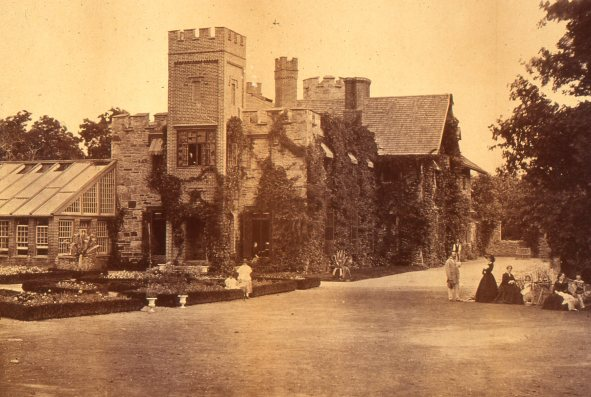 Pelham Priory, ca. 1860