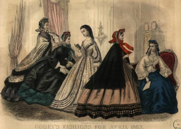 Godey April 1863