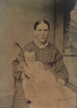 Young Woman and Infant, 1860–65. Tintype. Private collection