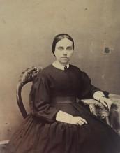 Woman in Mourning, 1860–65. American, Philadelphia. Carte de visite. Private Collection