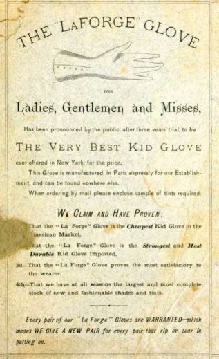 French kid gloves advertisement