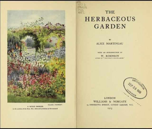 Herbaceous Garden frontispiece and title page