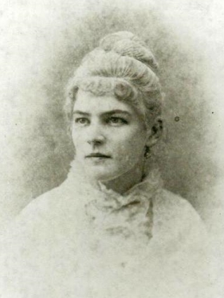 Sarah Elliott Marshall (1856–1892) in a photograph from the 1880s