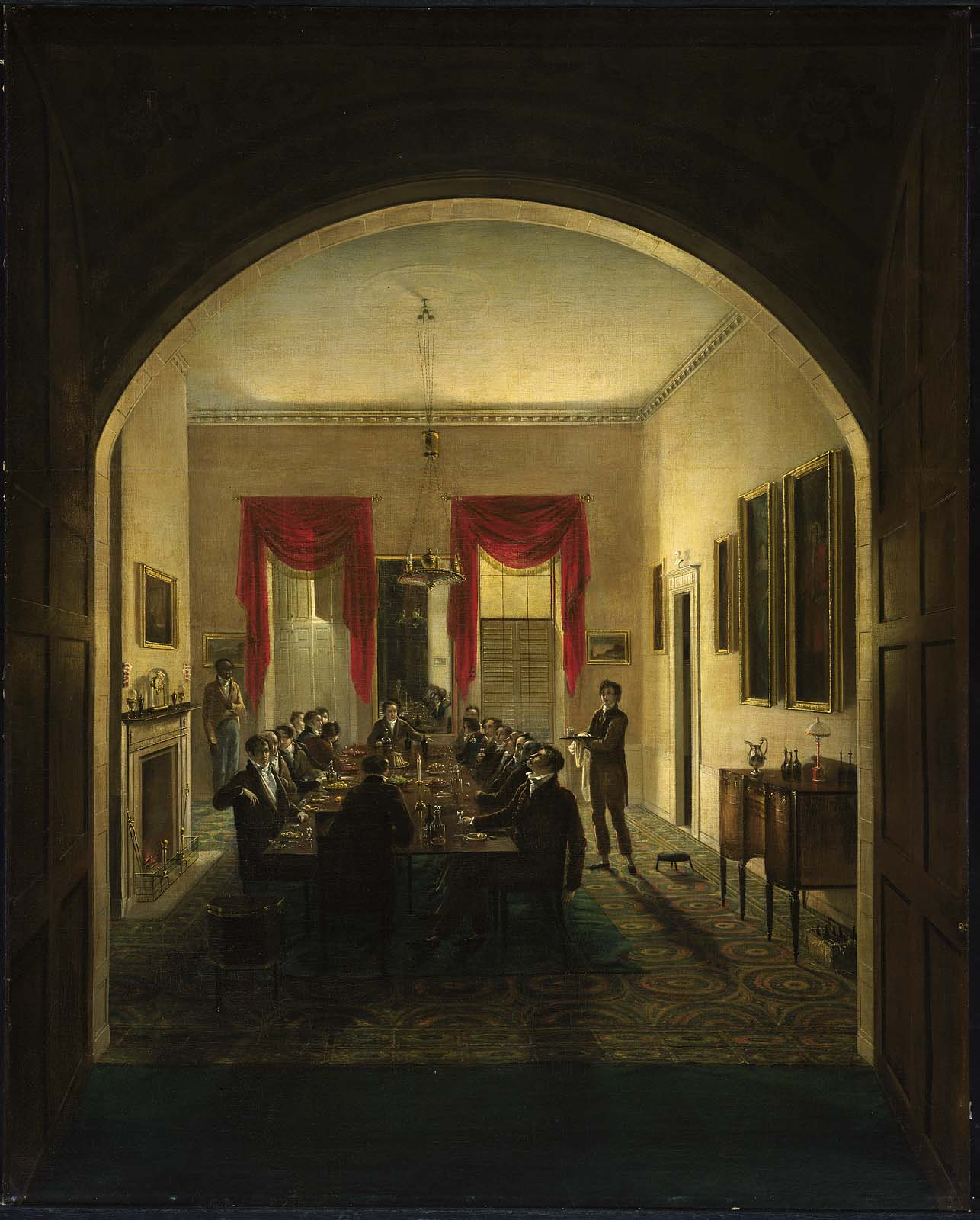Henry Sargent, The Dinner Party, ca. 1821