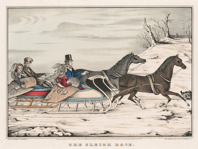 N. Currier, The Sleigh Race