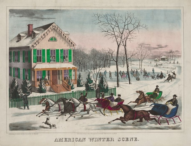 American Winter Scene, ca. 1867