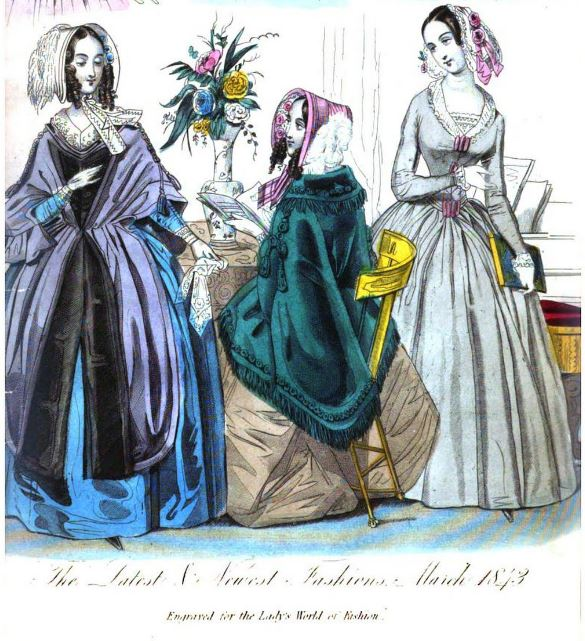 March 1843 Lady's World fawn silk
