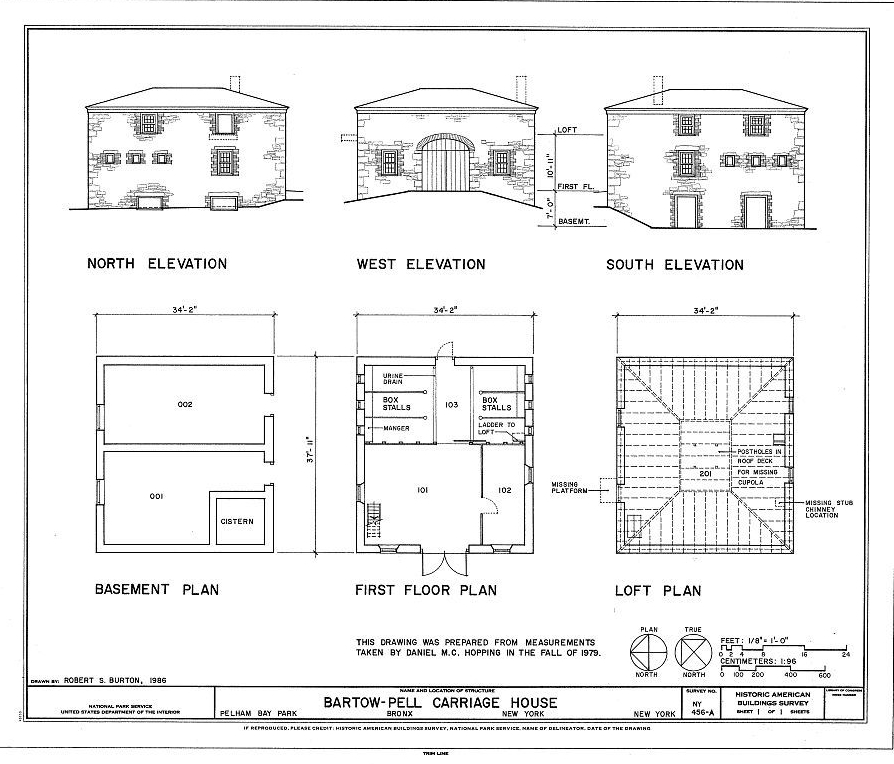 Carriage house plan, 1986