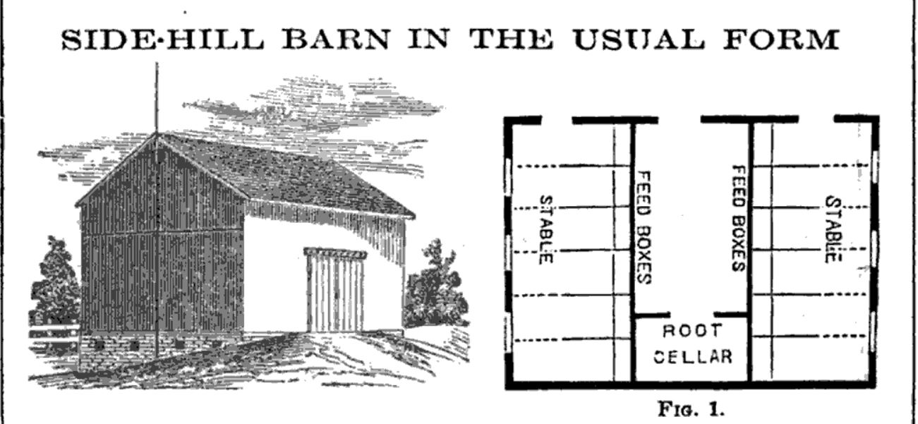 Side hill barn