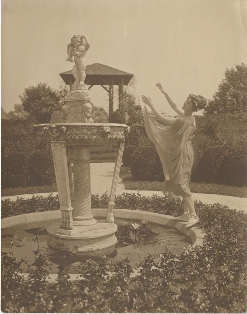 Mrs. Charles Frederick Hoffman Jr. in the Garden at Armsea Hall