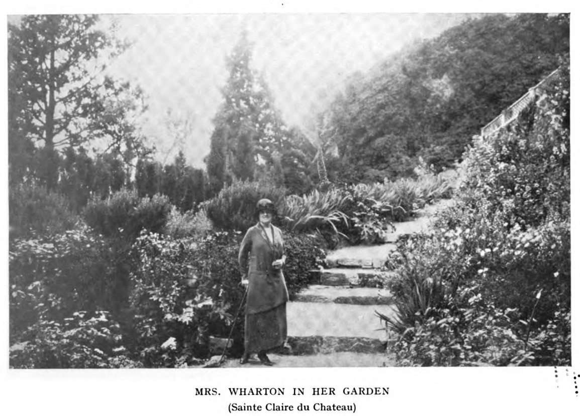 Mrs. Wharton in Her Garden