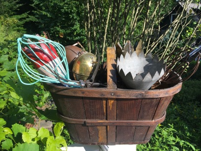Apple basket and apple pickers