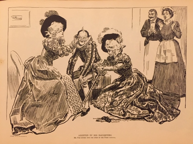 Assisted by His Daughters, Mr. Pipp, 1899