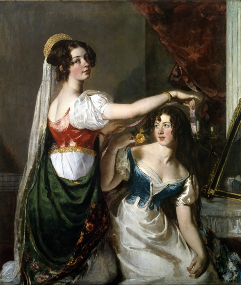 William Etty, Preparing for a Fancy Dress Ball