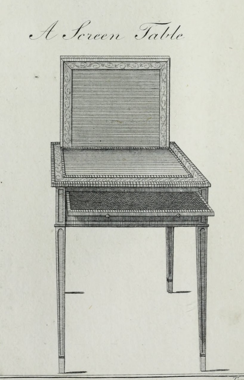 Screen table, Sheraton, plate 43