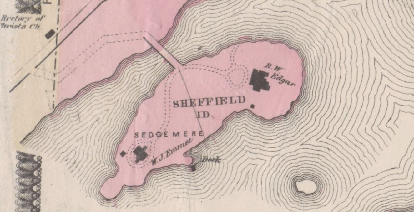 Sheffield Island, New Rochelle, 1868